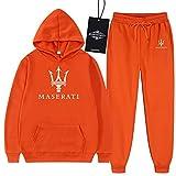 Martin Hombres Sudadera Pantalones Colocar Ropa de Deporte Hombres M.Asera-Ti Impreso Trotar Traje,Clásico Baloncesto Sudadera Chandal Moda/naranja/M