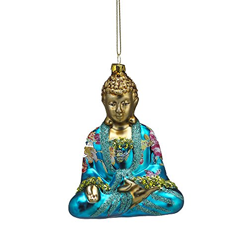 Kurt Adler 5.25' Glass Buddha Ornament