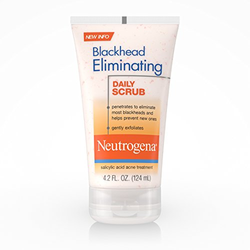 Neutrogena Blackhead Eliminating Daily Facial Scrub With Salicylic Acid Acne Medicine, Exfoliating Face Wash for Blackheads, 4.2 oz