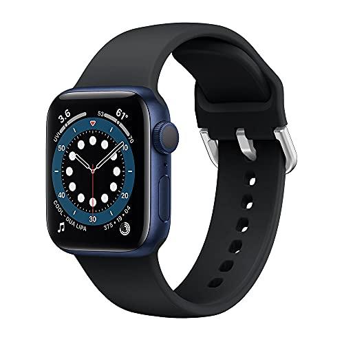Syxinn Correa Compatible para Apple Watch 38mm 40mm 42mm 44mm Correas Banda de Silicona Suave Deportiva Pulsera para iWatch Series 6 5 4 3 2 1 SE