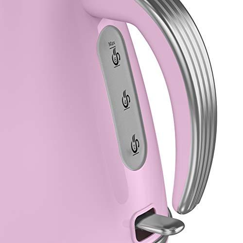 Swan SK19020PN Retro 1.5 Litre Jug Kettle - 3KW - Pink
