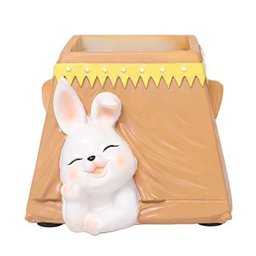 Hankyky Camping Journal Fleur Pot-Tente Bunny Pig Chat Bureau Décoration Belle Plante Pot Flowerpot
