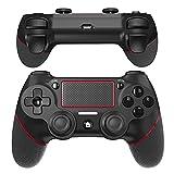 JOYSKY Wireless Controller für PS4,Bluetooth Gamepad Kontroller Joystick Zubehör kompatibel mit Playstation 4 (Schwarz/Rot)