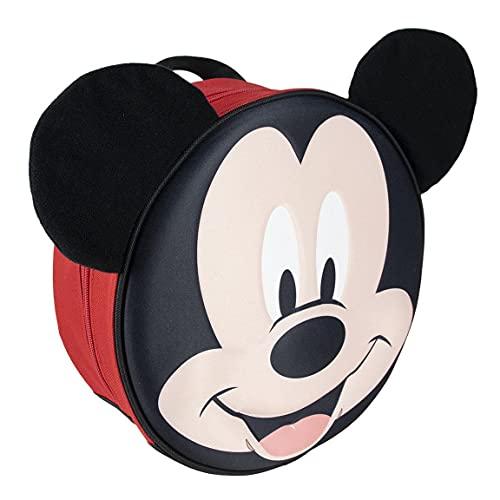 CERDÁ LIFE'S LITTLE MOMENTS Mochila Infantil de Licencia Oficial Disney Zaino per Bambini 3D Mickey-Prodotto con Licenza Ufficiale, Nero, Especialmente recomendada para Niños 2-6 Años