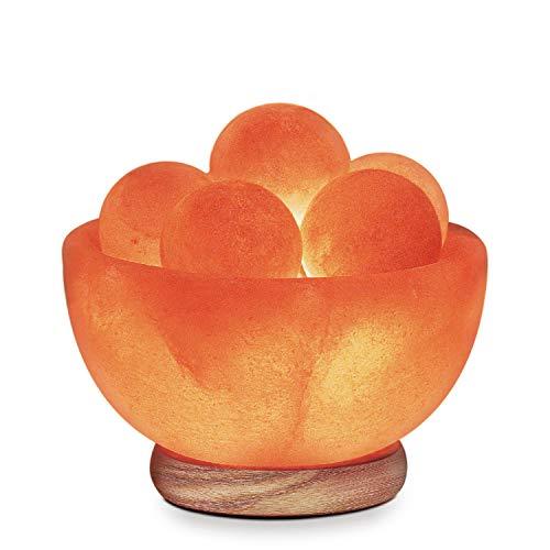 Himalayan Glow Bowl Massage Stones Salt Lamp, (ETL Certified), Dimmer Switch |, (2 Extra Bulbs)