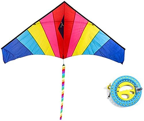 YSDKJ Cometas para niños Cometa para niños Colorful Life Kite Fácil de Volar Ideal para niños Adultos, construida para durar, Gran Cometa para Principiantes para la Playa 1006