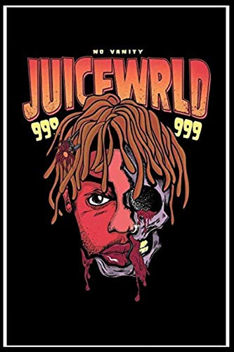 JUICE WRLD RIP Sketchbook, Notebook, 120 pages, Sketching, Drawing and Creative Doodling Notebook to Draw and Journal 6x9 Paperback
