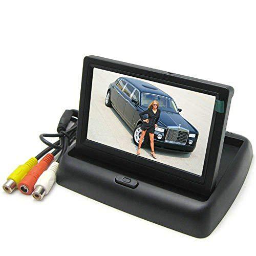 BW® 10,9 cm Écran couleur TFT voiture Soutien Résolution 960 H x 240 V + 2 canaux d'entrée vidéo + moniteur de voiture rétroviseur Système, Mini Monitor pour voiture/automobile