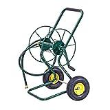 Goplus Garden Hose Reel Cart with Wheels Heavy Duty Outdoor Water Planting Cart, Hold 200Feet of 3/4' Hose (Green)
