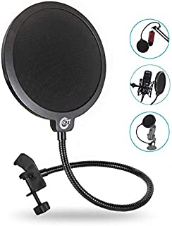 EJT Upgraded Microphone Pop Filter Mask Shield for Blue...