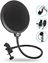 EJT Upgraded Microphone Pop Filter Mask Shield for Blue Yeti and Other Mic, 6 Inch Dual..