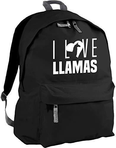 HippoWarehouse I Love Llamas Backpack ruck Sack Dimensions: 31 x 42 x 21 cm Capacity: 18 litres