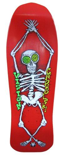 Vision groholski Skelett Neuauflage Skateboard Deck 24,8x 76,2cm, rot