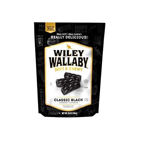 Wiley Wallaby Australian Style Gourmet Licorice, Black, 10 Ounce Bag