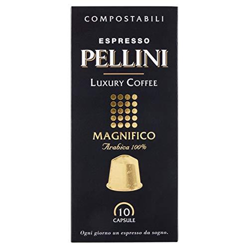 Pellini Caffè Luxury Coffee Magnifico - Nespresso kompatibel, 10 Kapseln, 1er Pack (1 x 50 g)