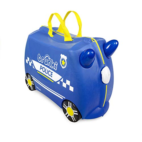trunki Ride-On Koffer oprijdbare kindertrolley 46 cm Percy Police