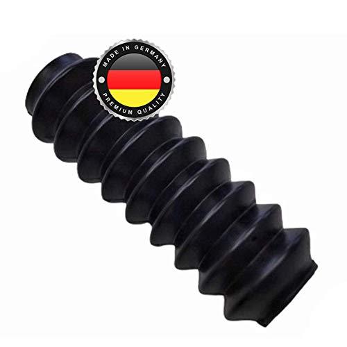 WS · SYSTEM 2x Universal Faltenbalg aus Gummi – 2 Stk flexible & dehnbare Achsmanschette MADE IN GERMANY aus hochwertigem PVC – Schelle in Größe: L 117mm-36mm Ø 23-27mm
