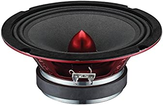 "DS18 PRO-X8BM Loudspeaker - 8"", Midrange, Red Aluminum Bullet, 550W Max, 275W RMS, 8 Ohms - Premium Quality Audio Door Spe... photo"