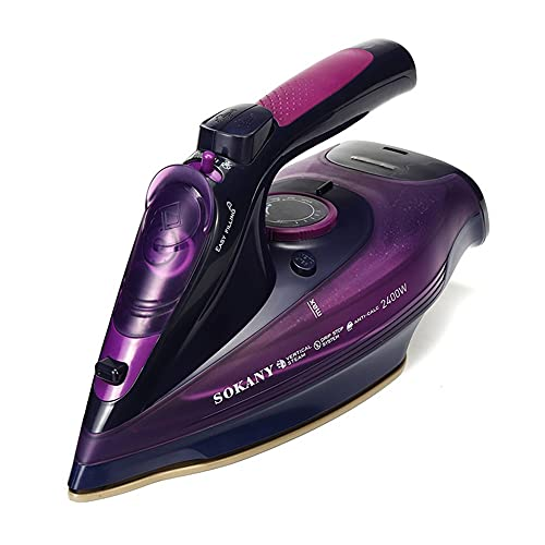 YLLYLL Ropa de Mano Steamer Portátil Portátil Plancha 2400W Potente Ajuste de 5 velocidades Viaje de Ajuste para Llevar el generador de Vapor Planchando la Ropa (Color : Purple)
