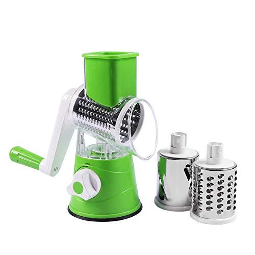 Xfc Graters für Küche, Manuell, Gemüse, Obst Cutter Käse Shredder Rotary Trommelreibe Küche Gadget Küchenzubehör
