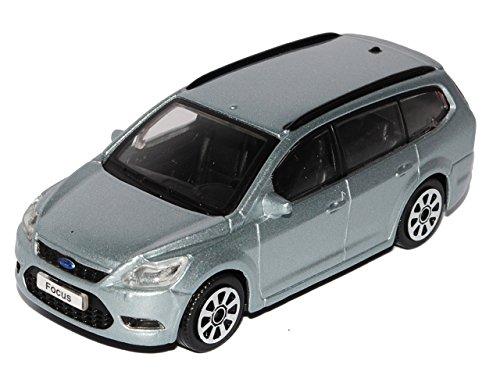 Bburago Ford Focus Kombi Silber 2. Generation DA3 2004-2010 1/43 Modell Auto mit individiuellem Wunschkennzeichen