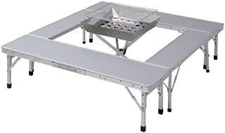 山善 キャンパーズコレクション ファイアープレイステーブル FPT-100(SL)