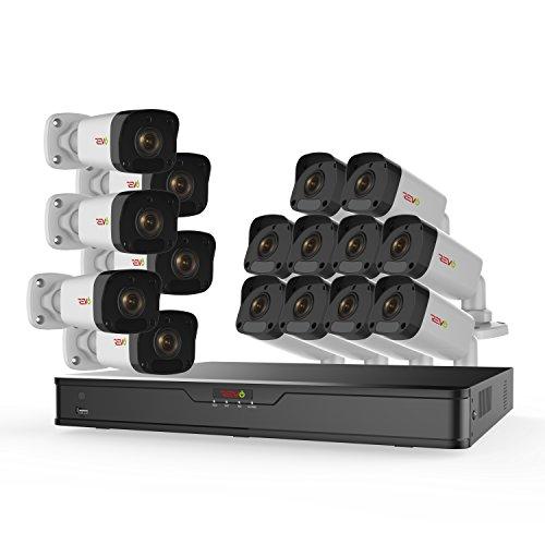 New REVO America Ultra True 4K 16CH. 3TB HDD Ip NVR Video Surveillance System, 8 x 4K Bullet Fixed L...