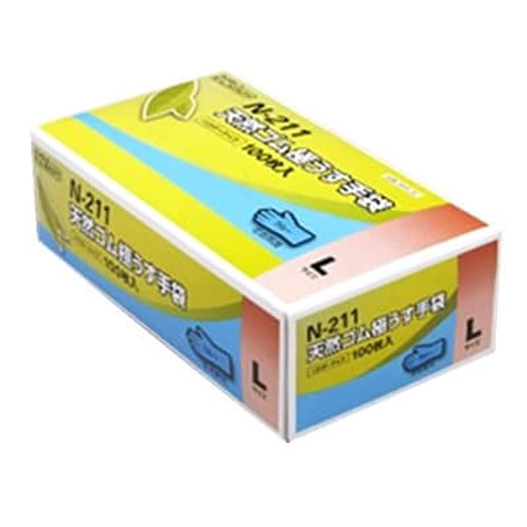 リビングルーム入札説教する【ケース販売】 ダンロップ 天然ゴム極うす手袋 N-211 L ブルー (100枚入×20箱)
