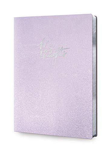 Studio Oh! Large Sophisticated Padded Leatheresque Rounded Journal Lavender Shimmer My Thoughts Design