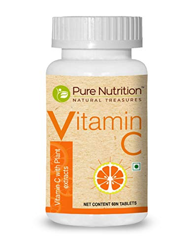 Pure Nutrition Vitamin C 1250mg/serve with Natural Amla and Orange Peel Extract, Antioxidants rich with immunity support, 60 tablets
