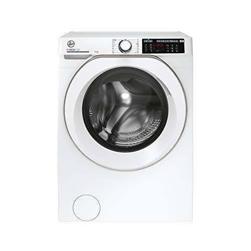 Hoover H-WASH 500 Lavatrice Smart 8 Kg, 1400 Giri, Wi-Fi + Bluetooth, Carica Frontale, Funzione Vapore, Motore Inverter, Libera Installazione, 60-54-85 cm, Bianco, Classe A