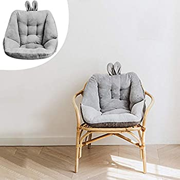 Semi-Enclosed One Seat Cushion,Soft Fuffly Comfortable Semi-Enclosed One Seat Chair Back Cushion,Pain Relief Cushion Sciatica Bleacher Seats,Waist Backrest for Home Office Chair  Grey