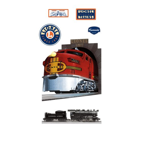 Lionel Trains Santa Fe Train Wall Graphic -  Fathead, 1023-00001