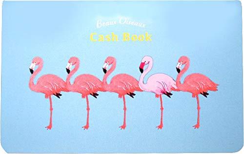 オリエンタルベリー おこづかい帳 Cash Book 14×0.4×8.9cm Beaux Oiseaux フラミンゴ HK-6724