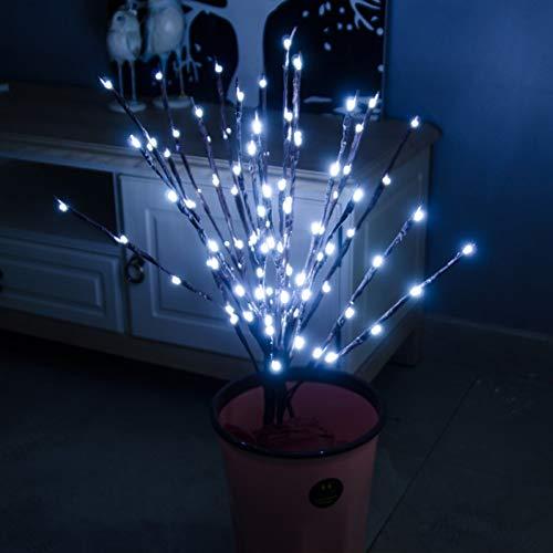 Kerstmis decoraties peertjes Willow Branch Lights Lamp Natural Tall Vaas Filler Nieuwjaar kerstboomversiering WSJKHY wit