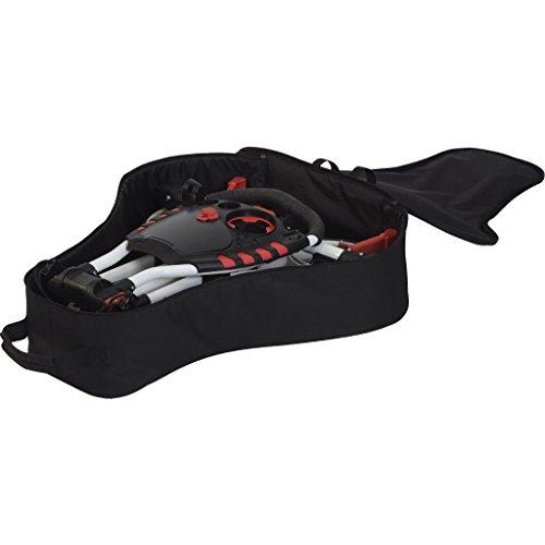 Fast Fold Unisex Flat Trolley Bag, schwarz