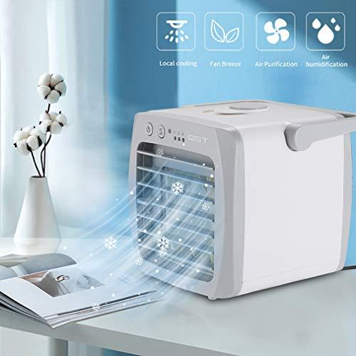 Mobile Klimageräte Mini Luftkühler tragbarer Verdunstungskühler USB Luftbefeuchter Mobile Ventilator 200ML Wassertank 3 Kühlstufen USB-Betreib ohne Batterie