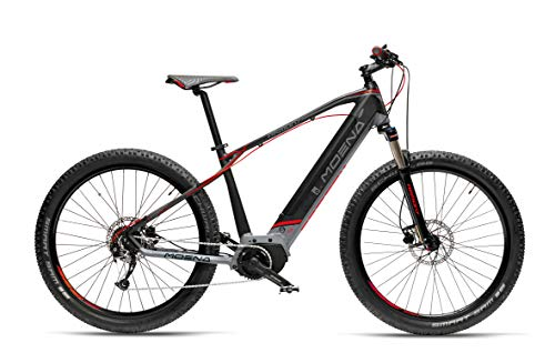 Armony Moena, Bicicletta Elettrica Unisex Adulto, Nero Grigio Rosso, 27.5'