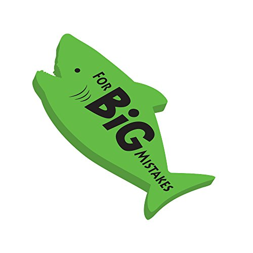 Rockin Gear Eraser Pencil Eraser Jumbo Shark 'for Big Mistakes' Cool erasers for School,Homework (Green)
