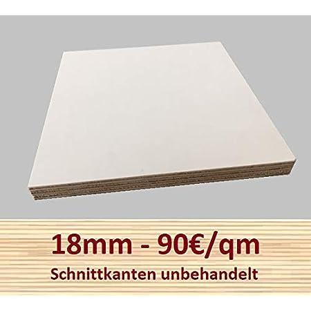 40x60 cm 18mm Multiplex Zuschnitt grau melaminbeschichtet L/änge bis 200cm Multiplexplatten Zuschnitte Auswahl