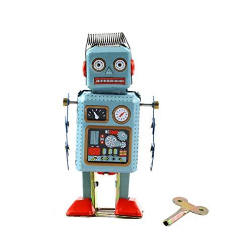 Fantasyworld 1pc Vintage mechanische Uhrwerk Wind Up Metall Laufroboter Tin Toy-Kind-Geschenk Worldwide