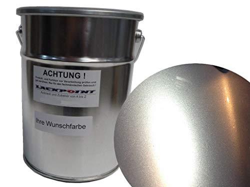 Lackpoint 0,5 Liter Spritzfertiger Wasserbasislack für VW A7W LA7W Reflexsilber Metallic Autolack