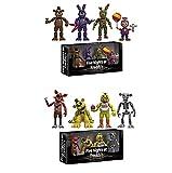 2 Caja / Set Five Nights At Freddy'S Game FNAF Figura Funtime Freddy Foxy Sister Location Horror Doll, 3.8 Pulgadas