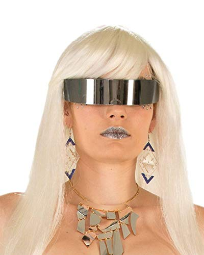 Forum Novelties Futuristic Mirror Wrap Around Glasses