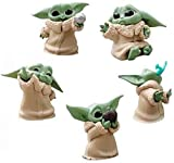 5 Packs Star Wars Baby Yoda Figure Toy The Child Mandalorian Series, The Bounty Collection Animatronic Edition 2-2.4 inch Blanket-Wrapped Mini Figure Valentine's Day Easter Ornament Gifts