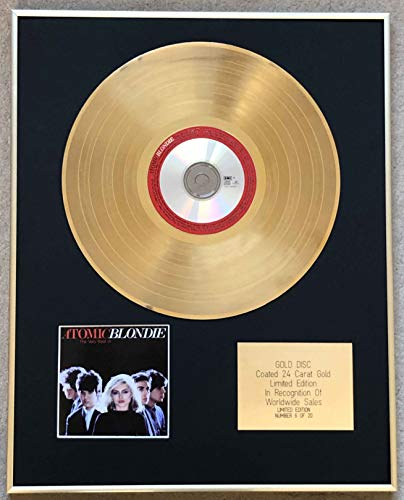 Century Music Awards - BLONDIE - Ltd Edition CD 24 Carat Gold Coated Disc - ATOMIC (VERY BEST OF)