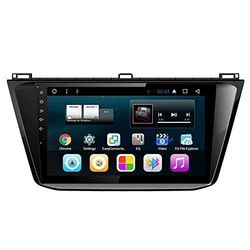 TOPNAVI 10.1Inch Android 7.1 Autoradio pour VW Tiguan L 2017 2018 Voiture GPS Navigation Stéréo avec 2 Go de RAM 32 Go ROM WiFi 3G RDS Lien Miroir FM AM Bluetooth Audio Vidéo