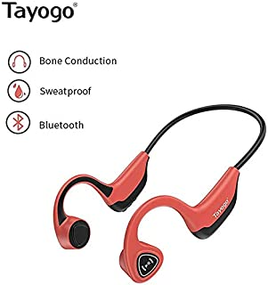 Tayogo Open-Ear Wireless Bone Conduction Bluetooth Headphones Perfect for Sport Fitness - Red