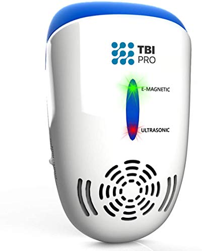 TBI Pro Ultrasonic Pest Repeller Wall Plug-in - Electromagnetic and Ionic Indoor Repellent Anti Mouse, Rats, Roach, Ants, Mosquito, Cockroach Control - Safe and Quiet Electronic Device