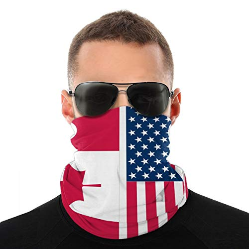 Canada American Flag Face Scarf Covering Bandana Dust Face Covering Motorcycle Face Covering for Women Men Face Scarf